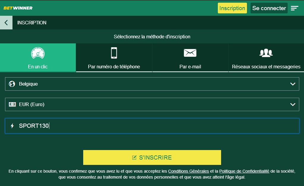 Betwinner Inscription Mobile
