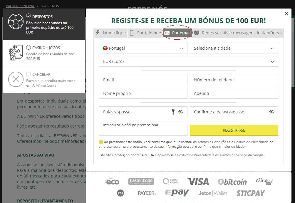 Betwinner Por Email